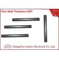Quality White Galvanized Electrical Conduit / 1 inch EMT Conduit ERW Welded , Unthread Type for sale