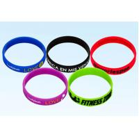 Quality Customize Promotional Rubber Bracelets Printed Silicone Wristbands Ultra Resistant for sale