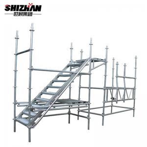 Quality All Aluminum Mobile Steel Scaffold Stairs Ladder Platform Scaffolding System for sale