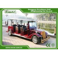 Quality Excar red 48V Electric Classic Cars elegant mini electric sightseeing car for sale
