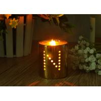 Best Decorative Hollow Copper Plating Ceramic Candle Holders Customized Design wholesale