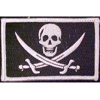 China Black White Full Color Flag Patch Personality Velcro For Clothes Jackets Hats Embroidery V on sale