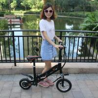 Quality Mini Folding Electric Bike Scooter Bicycle Lighter Aluminum 6061 Black / White Color for sale
