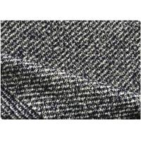 Black And White Twill Fabric 30% Wool 70% Synthetic 63 Gram Per Meter