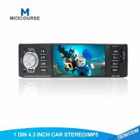 Quality Hd 1 Din Android Head Unit Fixed Panel Car USB Radio  With BT FM AUX SD Stereo for sale