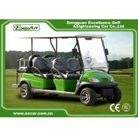 Quality Green 6 Passenger Electric Golf Carts Charging Time 8-10 Hours Steel Chassis for sale