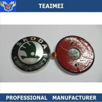 88mm Plastic Chrome Body Sticker Auto Part Car Emblem Badge For Skoda