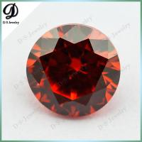 China Wuzhou DS Jewelry Loose Synthetic Gemstone Price list, Dark orange cz gemstone Market Pric on sale