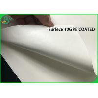 10G PE Coated 80G White Kraft Paper Coils For Making Disposable Takeaway Bag