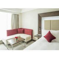 China Simple Wooden Queen Size Bedroom Suite For Hotel Furniture  ISO9001 on sale