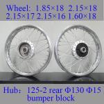 Quality Customized Logo Spoked Motorcycle Wheels Chrome Spoke Wheels Impact Resistance for sale
