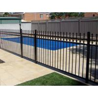 Quality 1800mm height x 2450mm crimped spear Hercules fence panels upright 25mm x 25mm x 1.2mm spacing 125mm Powder coated black for sale