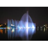 Quality Outdoor Playing Musical Water Fountain With Led Underwater Lights PC Controlled for sale