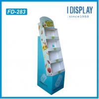 Quality Supermarket equipment layer floor cardboard display for food for sale