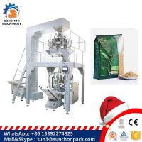 Quality Grain / Granule Automated Packing Machine With Multi Head Weigher For Oatmeal / Cornmeal for sale