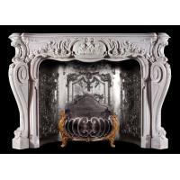 Quality Home decoration Marble stone fireplace mantel surrounds,China marble fireplace supplier for sale