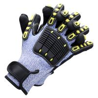 China Cut Level 5 TPR Cut Resistant Gloves High Impact Protective Gloves Elastic Cuff on sale