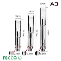 Quality Dual Coils CBD Vaporizer Cartridge A3 , Thick Oil Cartridge Huge Vapor 0.3ml 0.5ml 1.0ml for sale