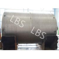 Quality High Strength Steel Integral Type Wire Rope Winch Drum For Crane Winch for sale