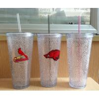 Quality HT-20 custom plastic straw drinks cup beer cup colors gel water PS material Cold beer cup for sale