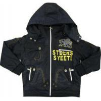 China Eco-friendly printing Kids Toddlers Hooded Fleece Jacket / Winter Baby jackets and coats on sale