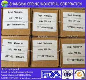 Quality Premium Inkjet Printing Transparent PET Polyester Film 100Mic/Inkjet Film for sale