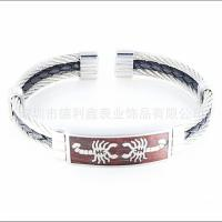 Best New pattern Inlaid mahogany Bracelet Stainless steel Wei also Bracelet Fashion Scorpion Pattern wholesale