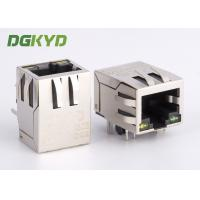 Quality Surface mount shielded right angle ethernet rj45 connector 100 BASE - TX Y/G LED for sale