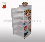 Quality Silk Screen Rigid Cardboard Display Stands , Gift Display Racks 5 Layers for sale