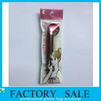 Best Customized Plastic Packaging Bags , Small Resealable Bags Makeup Brush Packaging wholesale