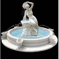 Quality Garden stone fountain carving statue water fountain white marble sculpture ,stone carving supplier for sale