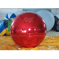 Best Inflatable Christmas Decoration Balloons Personalised Red Mirror Ball wholesale