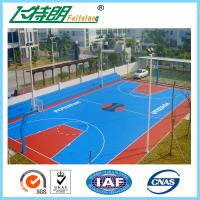 Quality 4mm Silicon PU Sports Flooring / Green Badminton Court Flooring Durable Seamless for sale