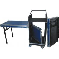 Quality Red/Black/Orange 16U Standard Rack Flight Case With 2pcs Of  Stand And Table for sale