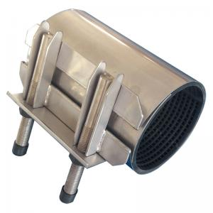 Quality GGG DN300 Vacuum SS Stainless Steel Repair Clamp Epoxy Coated for sale