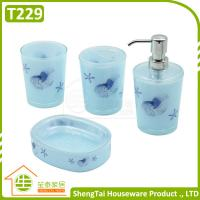 Best Bright Color Starfish Bathroom Accessories Set Trumpet Shell Plastic Bathroom Sets wholesale