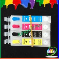 China printer ink cartridge for Epson XP-400 4 color refillable cartridge with chip on sale