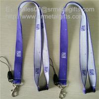 Quality Custom polyester woven lanyard with jacquard logo, promotional brand woven ribbons, for sale