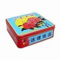 China Food/Gift Packaging Tin Box with CMYK and Pantone Colors, Customized Packaging Ways are Accepted on sale