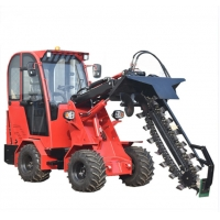 Quality 0.5cbm 1T Compact Articulated Wheel Loader 4X4 Snow Bucket for sale