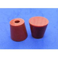 Quality Lab Rubber Stoppers With Holes , Silicone Stoppers For Laboratory Equipment for sale