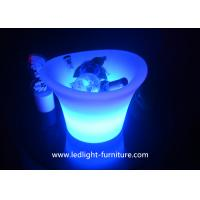 Quality Color Changeable Illuminate LED Ice Bucket / Led Light Up Bucket For Party Cooler for sale