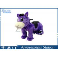 China Adjustable Stirrup Coin Operated Horse / Horse Ride On Toy Washable Skins on sale