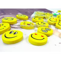 Quality PVC cartoon cute mini round emoticons eraser for promotional gifts for sale