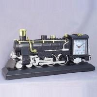 Quality Train Table Clock with Alarm and Flashing Light for sale