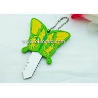 Quality PVC butterfly cartoon figures shape cute key cover custom and supply for sale