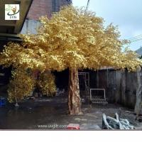 Best UVG 4m tall living gold banyan leaves artificial trees for outdoors GRE056 wholesale
