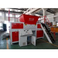 Waste Wood / Tire Twin Shaft Shredder PLC Control System Anti - Winding And Stuck