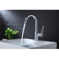 Buy cheap Brass Body Basic Kitchen Faucet Deck Mounted Mixer Rotate Water Outlet Polished from wholesalers
