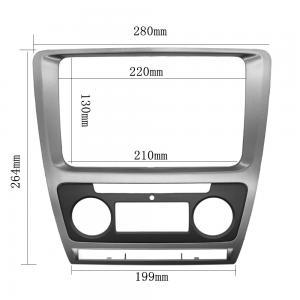Quality Fascia For Skoda Octavia Auto AC 2010 - 2013 DVD Stereo Frame Mounting Panel Dash Installation Bezel Trim Kit for 2 Di for sale